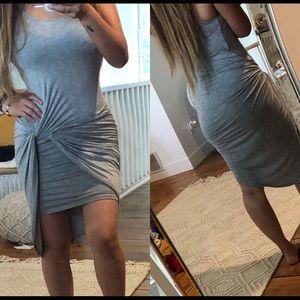 Dresses & Skirts - Grey twist front dress